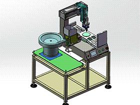 创维电视机壳打螺丝机、非标自动化锁螺丝机设备 SPLA2007 solidworks 3D图纸 三维模型