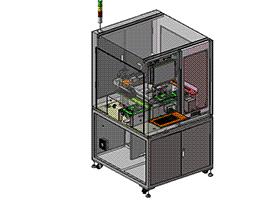 德赛自动螺丝机 SPLA2010 solidworks 3D图纸 三维模型