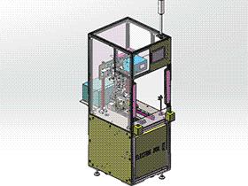 马达外壳锁螺丝机 SPLA2012 solidworks 3D图纸 三维模型