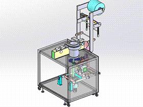 螺包机(螺丝包装机) SPLA2014 solidworks 3D图纸 三维模型