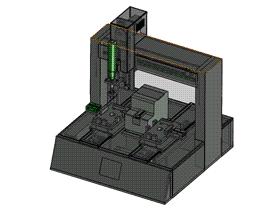 自动螺丝机方案图 SPLB1001 solidworks  3D图纸 三维模型
