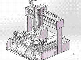 桌面式自动锁螺丝机 SPLB1004 solidworks  3D图纸 三维模型