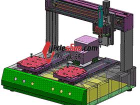 桌面式自动打螺丝机3D数模 H70 SPLB2003 solidworks  3D图纸 三维模型