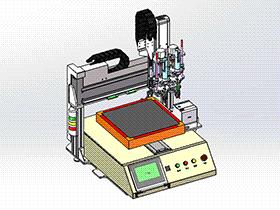 自动锁螺丝机 SPLC2003 solidworks格式 3D图纸 三维模型