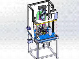 油泵电磁阀电机压装机(内含拧螺丝机) SPLC2006 solidworks格式 3D图纸 三维模型