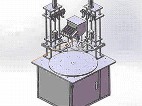 转盘式自动螺丝机带工程图 SPLE1001 solidworks  3D图纸 三维模型