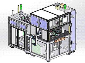 转盘式多工站多轴同步双面锁螺丝 SPLE2007 solidworks 3D图纸 三维模型