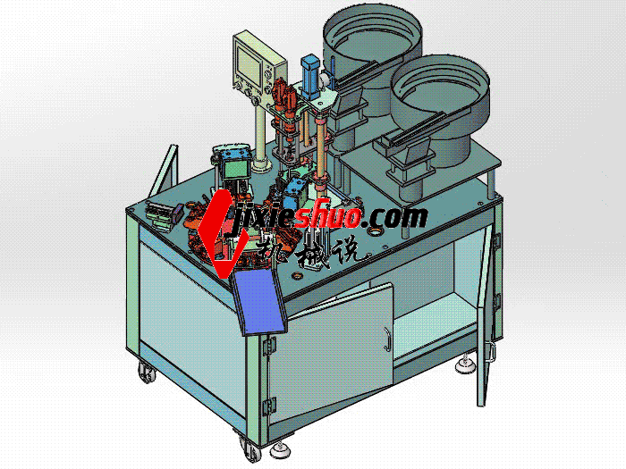 转盘式自动锁螺丝机 sple3002 PROE CERO格式 3D图纸 三维模型