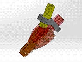出料嘴 splx1006 solidworks 3D图纸 三维模型