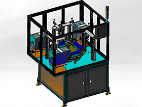 4工位锁螺丝机 splw2007 Solidworks格式 3D图纸 三维模型