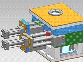 弯管,旋转抽芯模具 SPMA1002 solidworks  3D图纸 三维模型