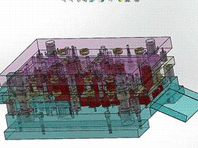 级进模 SPMA1003 solidworks  3D图纸 三维模型