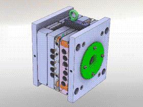 热流道塑胶注塑模具 SPMB1001 solidworks  3D图纸 三维模型