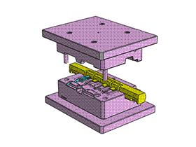 USB注塑模具设计 SPMB1002 solidworks  3D图纸 三维模型