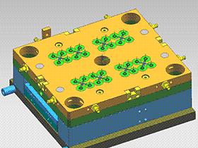 叠层模 SPMB1004 solidworks  3D图纸 三维模型