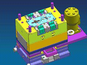 复杂的斜顶滑块齿轮模具 SPMB1006 solidworks  3D图纸 三维模型