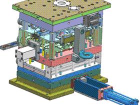 双色螺纹模具 SPMB1008 solidworks  3D图纸 三维模型
