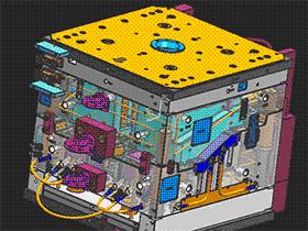 车灯模具 SPMB1012 solidworks 3D图纸 三维模型