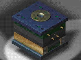 电气线注塑模具 SPMB1016 solidworks 3D图纸 三维模型