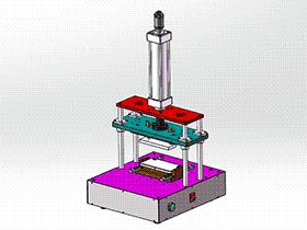 手机壳自动切水口机 SPMQ2001 solidworks 3D图纸 三维模型
