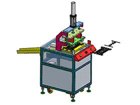 自动化塑胶切水口机 SPMQ2004 solidworks 3D图纸 三维模型