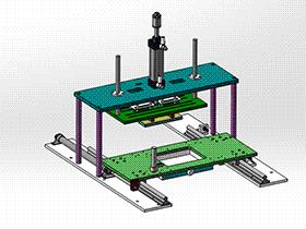 切水口平台架构气缸联接图 SPMQ2006 solidworks格式 3D图纸 三维模型