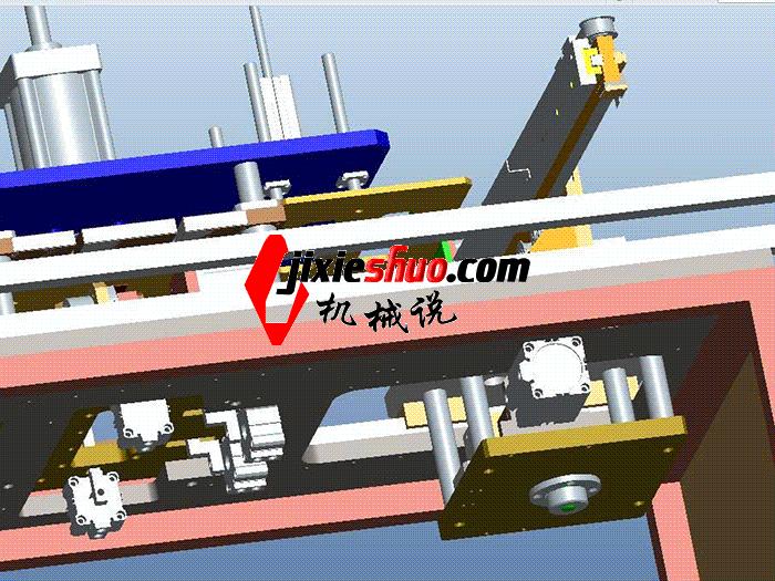 机械手模内取料带旋转和切水口一体机设备 带工程图 SPMQ3001 proe格式 3D图纸 三维模型
