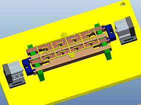 自动切水口机模型 SPMQ3002 proe格式 3D图纸 三维模型