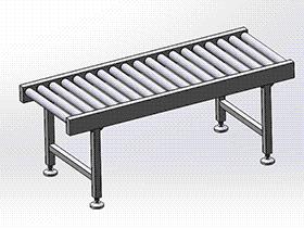无动力滚筒输送机 SPSA1007 solidworks 3D图纸 三维模型