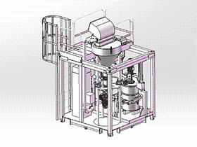滚筒式搅拌机 SPSA1008 solidworks 3D图纸 三维模型