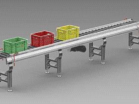 滚筒输送机 SPSA1010 solidworks 3D图纸 三维模型
