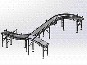 S形滚筒输送线 SPSA1012 solidworks 3D图纸 三维模型