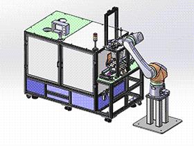 日本公司Ampere DUP滚筒支架组件组装机设备 SPSA1014 solidworks 3D图纸 三维模型