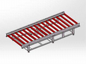 输送线滚筒积放式 SPSA1015 solidworks 3D图纸 三维模型