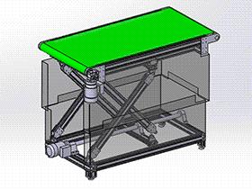 微型皮带传送带 SPSB1016 通用格式 3D图纸 三维模型