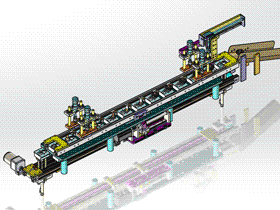 治具工位循环线 SPSC1001 STEP格式 3D图纸 三维模型