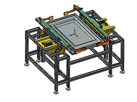 65寸屏顶升对中机构 SPSD1001  solidworks 3D图纸 三维模型