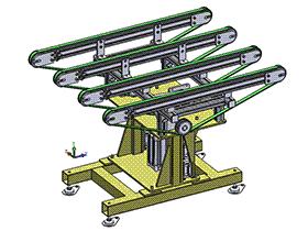 顶升皮带输送机 SPSD1003  solidworks 3D图纸 三维模型