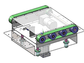 90度传输顶升传动组件 带工程图 spsd2001 solidworks 3D图纸 三维模型