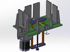 顶升送料机构 spsd2002 solidworks 3D图纸 三维模型