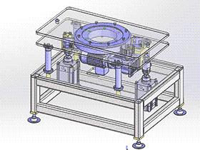 180度顶升旋转工作台 spsd2003 solidworks 3D图纸 三维模型