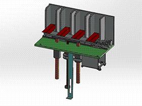 螺母定螺杆动 顶升送料机构 spsd2006 solidworks 3D图纸 三维模型