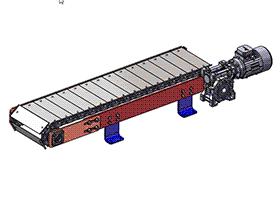 水平链式输送机 SPSE1001 solidworks  3D图纸 三维模型