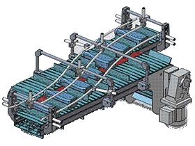 S形变向导流链板式输送机 SPSE1003 solidworks  3D图纸 三维模型