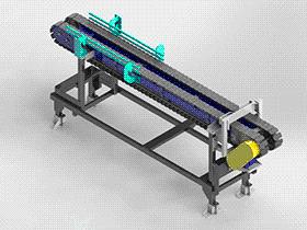 链传动输送机 SPSE1005 solidworks  3D图纸 三维模型