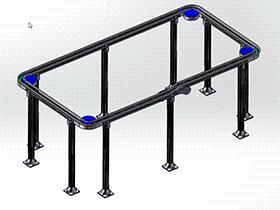 APAS环型链板线 F901 SPSE2001 solidworks  3D图纸 三维模型