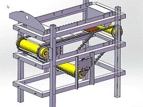 链式输送机 SPSE2002 solidworks  3D图纸 三维模型