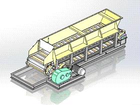 砖厂链板式送料机 SPSE2003 solidworks  3D图纸 三维模型
