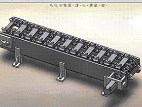 环形链式输送线 F905 SPSE2005 solidworks  3D图纸 三维模型