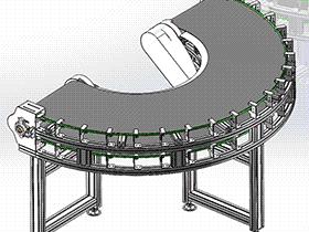 新型皮带转弯机 SPSG1005 solidworks  3D图纸 三维模型